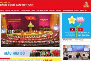 VietCert trên trang điện tử của Đảng Cộng Sản Việt Nam